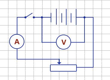 Соберите электрическую цепь по схеме, представленной на рисунке.